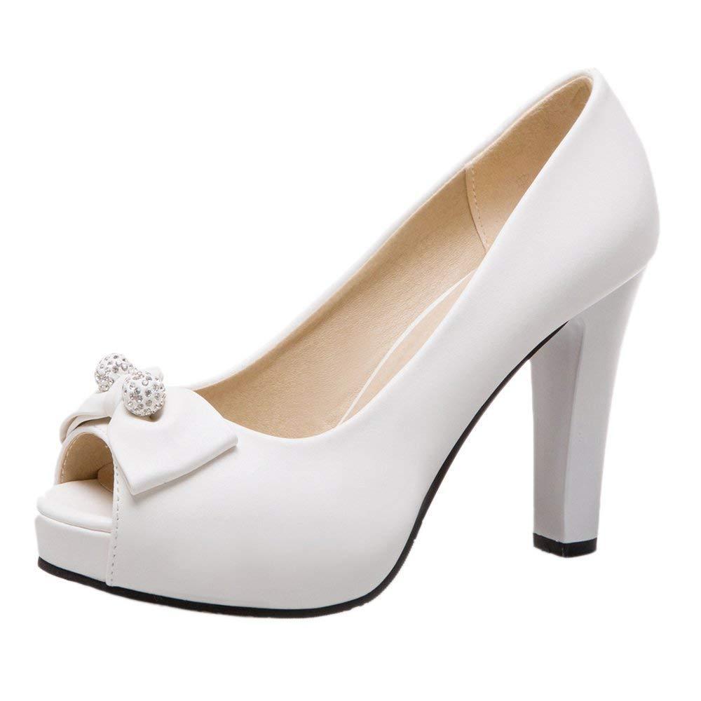 ZHRUI Frauen High Heel Peep Toe Schuhe