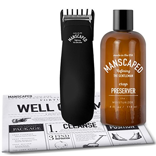 Labor Ease Kit (Mens Grooming Kit, includes - Uniquely Small/Powerful Manscaping Trimmer and Ball Deodorant + FREE Disposable shaving mats)