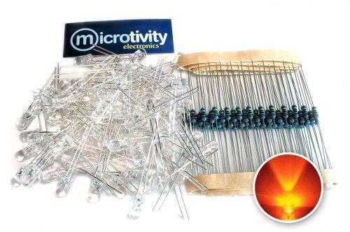microtivity IL413 Clear Orange Resistors product image