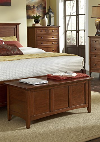 A-America Westlake Cedar-Lined Blanket Trunk, Cherry Brown Finish