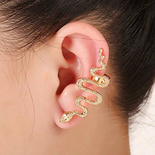 Qtalkie Cool Stylish Retro Vintage Punk Winding Snake - Ear Cuffs Snake