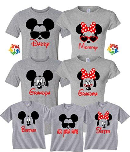 80e65e96f Arts & Designs Mickey & Minnie Custom Name Tshirts Funny Cute Custom  Matching Shirts