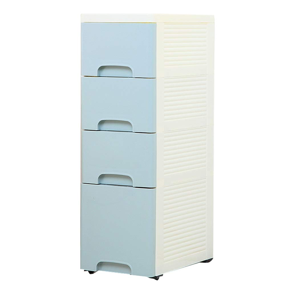 Zzg-2 Narrow Slit Storage Box, Kitchen Next to The Refrigerator Sundries Daily Necessities Plastic Drawer Type Finishing Cabinet, 254075CM (Color : #4)
