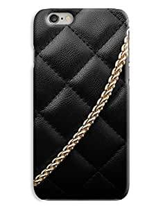 Gold Chain on Black Leather Bag iPhone 6 Case