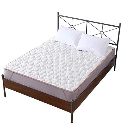 HYXL Impermeable Acolchado Protector de colchón cojín,Sobrecolchón con hipoalérgico Abajo llenado Alternativa, Simmons