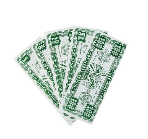 2.5'' X 6'' PLAY MONEY, Case of 288 by DollarItemDirect