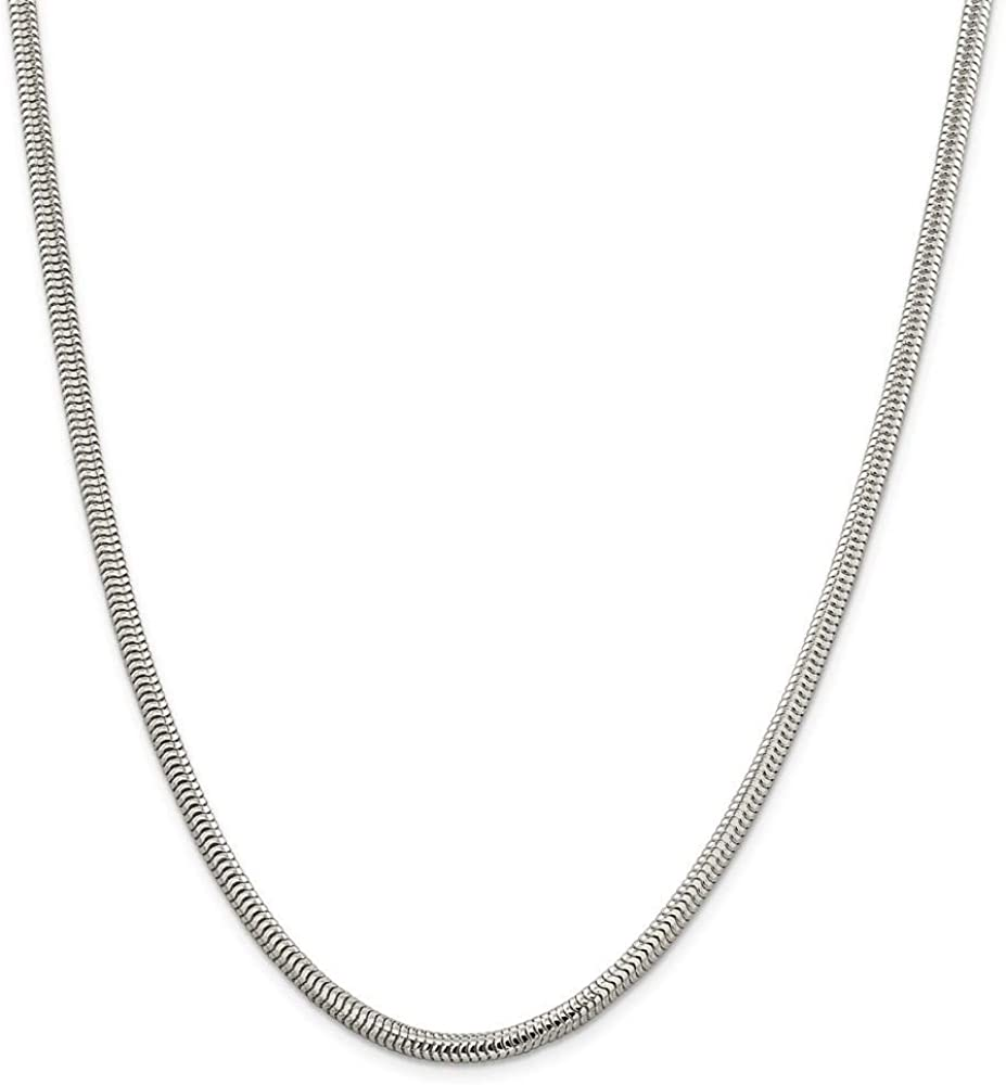 """925 Sterling Silver 3mm Snake Chain 16/"""" 18/"""" 20/"""" Necklace Jewelry for woman"""