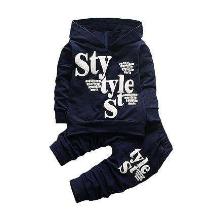Vestiti Per Neonati 6-12 Mesi Abbigliamento Bambino Autunno Inverno Toddler  Baby Boy Stile Lettera Cappuccio Di Stampa Cime Modello Pantaloni Pezzi Set  ... 7c34fa9cfdc