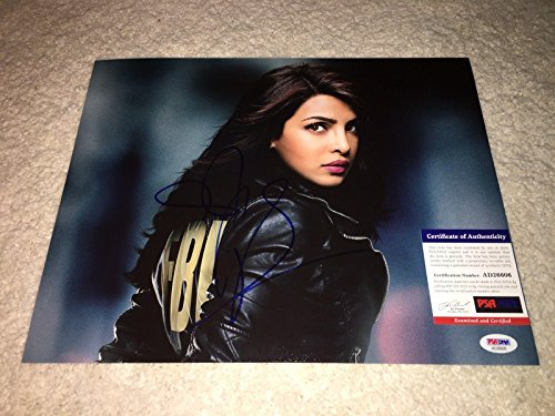 Priyanka Chopra Signed Prototype - 11x14 Quantico Tv Show Alex Parrish - PSA/DNA Certified - Autographed NHL Photos