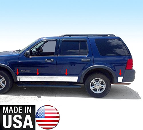Tyger Auto Made In USA! TYGER Ford Rocker Panel Trim Works With 02-05 Explorer XLS 4Door With Fender Flare 5-5 1/2'' Wide (Ford Explorer Fender Flares)