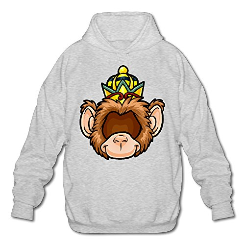 PHOEB Mens Sportswear Drawstring Hoodie Sweatshirt,The Monkey King Ash XX-Large
