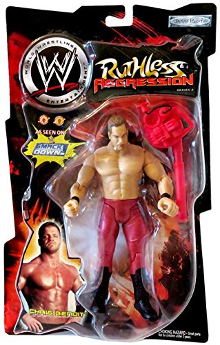 Chris Benoit - WWE Wrestling Ruthless Aggression Series 4 Action Figure by Jakks by WWE