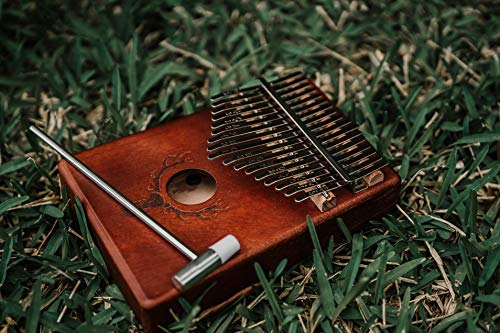 TimberTunes 17 Key Kalimba Thumb Finger Piano Therapy Musical Instrument for Adults Children, Solid Mahogany Wood, Engraved Elk Antler,Tuning Hammer and Music Book, Engraved Keys, Velvet Case, Unique by Timbertunes (Image #8)