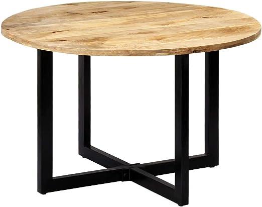 vidaXL - Mesa de comedor de madera maciza de mango, vintage, mesa ...