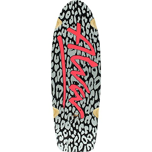 Alva Skateboards Skateboards 1979 Leopard Lost Model Dk-9.25x30 Bk/Silver/Pink (PRE-GRIPPED DECK) (Bundled with FREE 1
