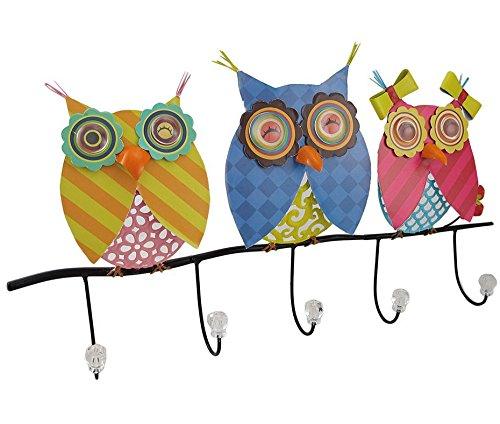 Tamaño grande de familia de búhos de colores brillantes 5 ...