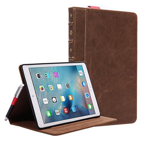 iPad Pro Book Case 9.7, Miniko(TM) Luxury Vintage Old Boo...