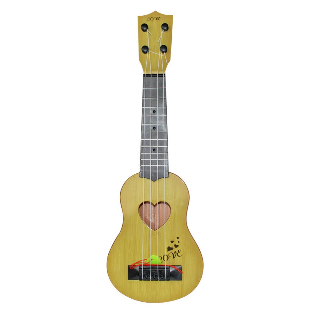 Hisoul Hot  Classical Ukulele Guitar Toys Kids Mini Ukulele Interactive Educational Musical Instrument Toy for Beginner Best Musical Gift (Yellow)