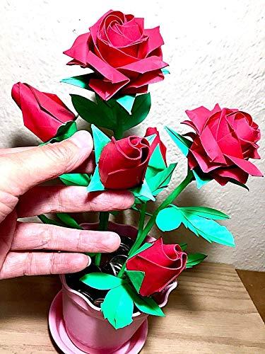 Origami paper rose - origami flower - paper flower - paper rose ... | 500x375