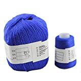 Pure Cashmere knitting Yarn 70g for Hand&Machine Knitting,Sapphire Blue