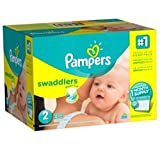 Pampers Swaddlers Diapers, One Month Supply, Size 2, 204 Count, 12-18lbs, New!!!