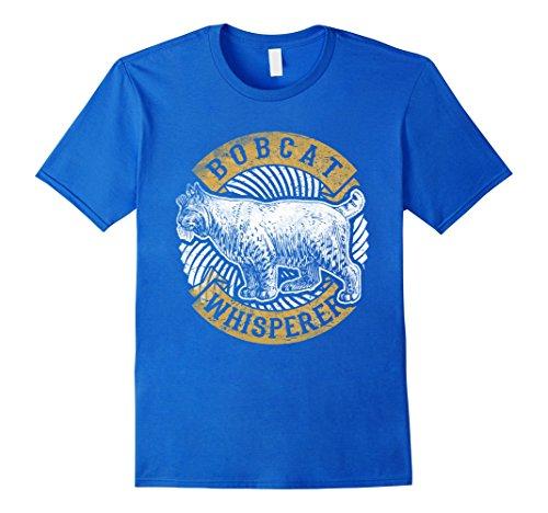 Bobcat Costumes (Mens Bobcat Whisperer Funny T-Shirt Big Cat Lover Gifts Tee Large Royal Blue)