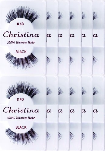 Christina 12 Pack False Eye Lashes Style 43