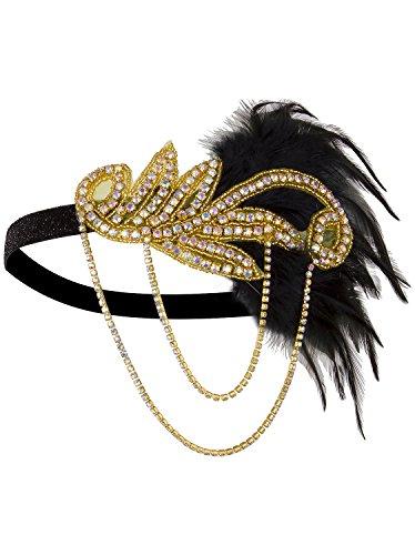iece Vintage 1920s Headband Flapper Great Gatsby ()
