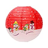Christmas Decorations Window Store Roof Layout Props Snowman Lantern Red, 2 Pack
