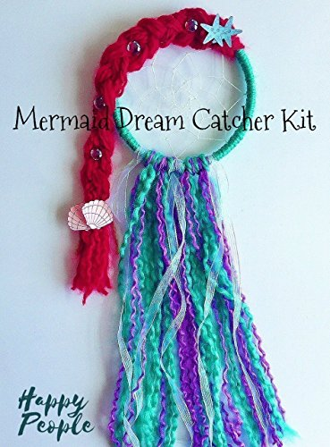 Mermaid Dream Catcher Kit, Craft Project, Gift for Girls by HappyPeople