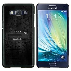 """Be-Star Único Patrón Plástico Duro Fundas Cover Cubre Hard Case Cover Para Samsung Galaxy A5 / SM-A500 ( Cargando La vida divertida Clever Internet Negro"""" )"""