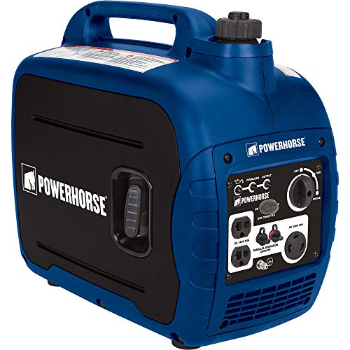 Powerhorse Portable Inverter Generator – 2000 Surge Watts, 1600 Rated Watts, CARB Compliant