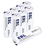 EBL AA Batteries 1.5V Lithium 8 Pack AA Battery 3000mAh Ultra fit Mouse, Toys, Digital Cameras Non Rechargeable