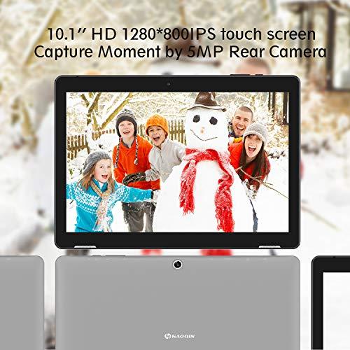 Tablette Tectile 10 Pouces Android - HAOQIN H10 2Go RAM 32Go eMMC Quad-Core Processeur PC Tablette IPS Écran WiFi Android 9.0 Google Certified (Gris)