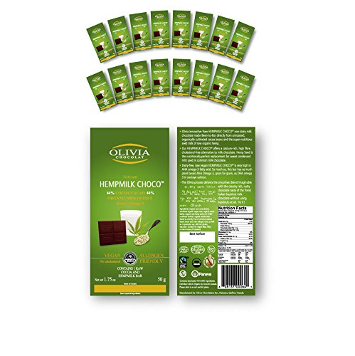 (Case of 16 Bars Olivia Chocolate Hemp-Milk Choco (Hempmilk))
