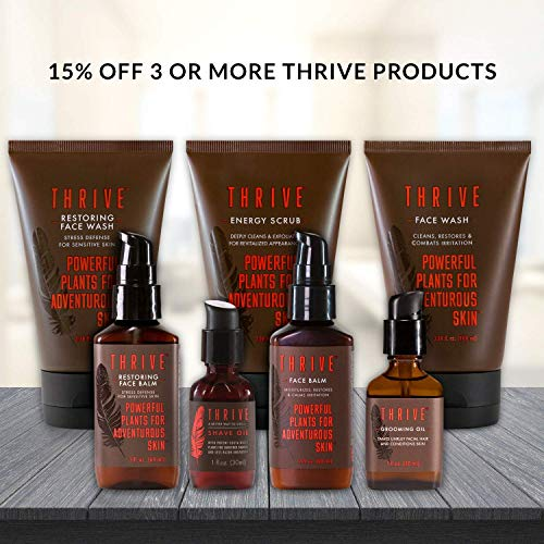 Thrive Natural Face Moisturizer – Non-Greasy Soothing Facial Moisturizer Lotion for Men & Women Made in USA with Natural & Organic Ingredients Keep Skin Hydrated & Help Irritation as After Shave, 2 Oz