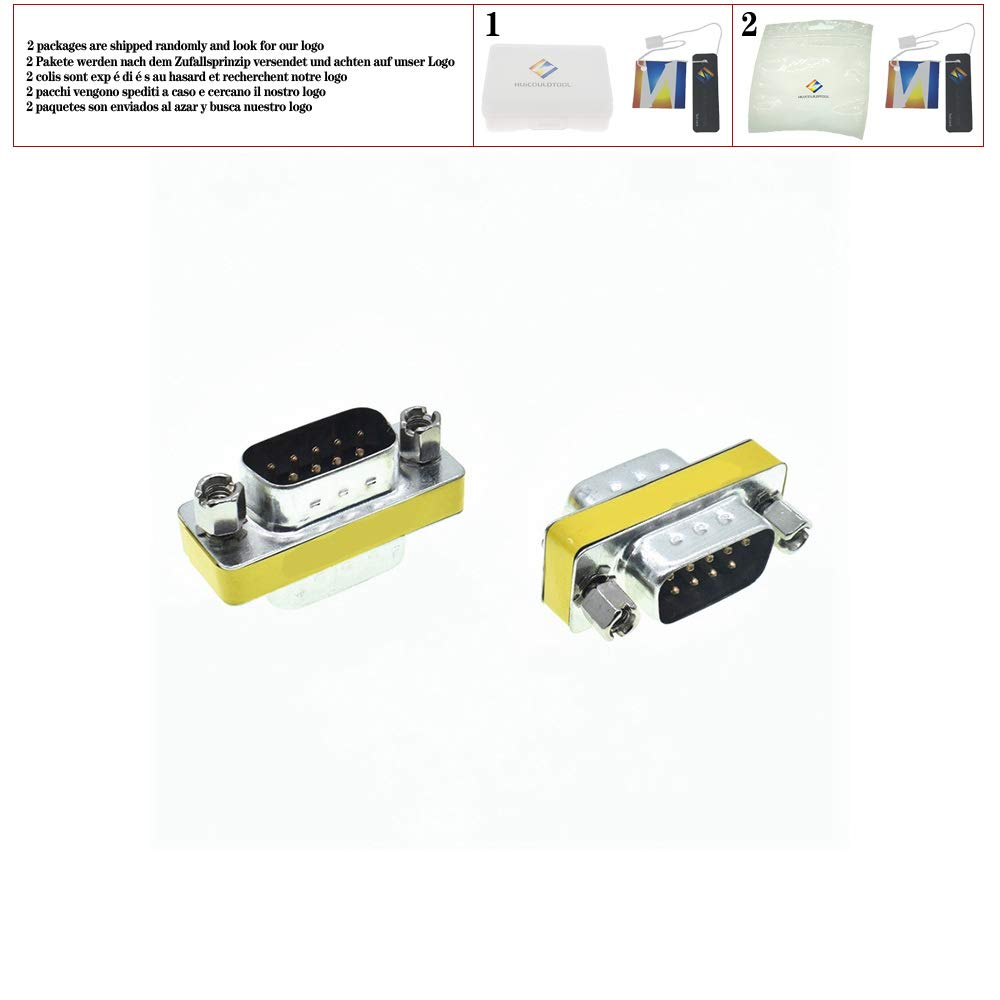 DB9 9Pin Male to Male Mini Gender Changer Adapter RS232 Serial Connector Female to Female Female to Male D-Sub Connectors,Female to Male