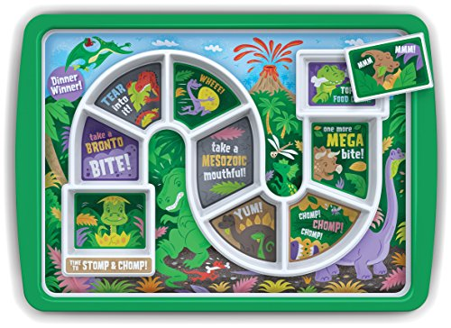 Fred & Friends 5202956 Fred Winner Kid's Dinner Tray, Dino Time, 30 x 21.2 x 2.5 cm, (Plate Special Treat)