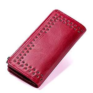 LCDY Embrague Largo Cuero Nueva Billetera De Mujer. Monedero De Teléfono Móvil Multifunción En Color
