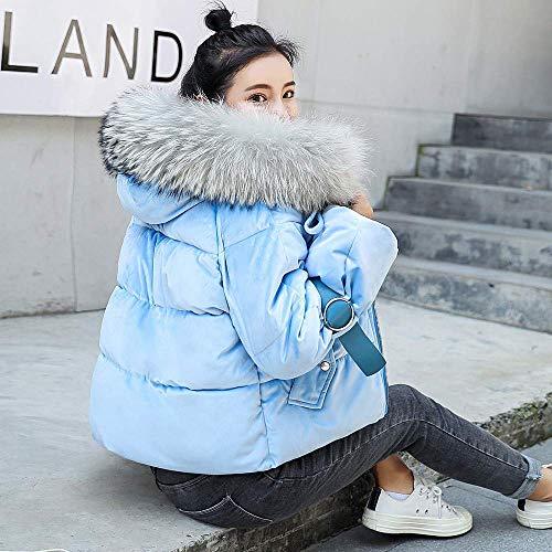 Algodón Invierno Moda De Azul large Capucha Delgado Mujer Mujer Oudan Rosado X Cálido Exterior Para Abrigo Acolchado color Tamaño Con Claro Chaqueta Abrigos Grueso BE7qqnI