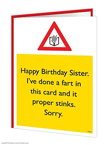 Amazon Brainbox Candy Funny Humorous Sister Card Stink