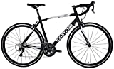 Tommaso Monza Endurance Aluminum Road Bike, Carbon Fork, Shimano Tiagra, 20 Speeds, Aero Wheels – Matte Black – Large