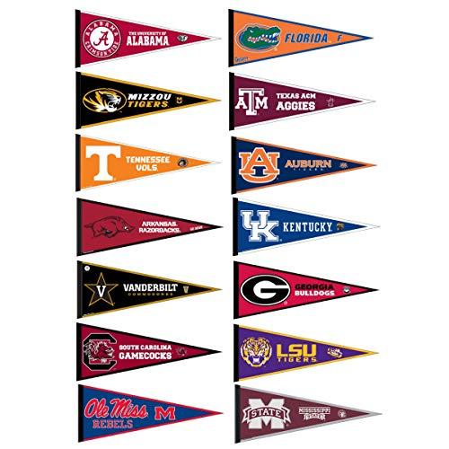 SEC College Pennant Set