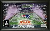 NFL New England Patriots Super Bowl XLIX Champions ''Celebration'' Signature Photo, 21'' x 14'' x 3'', Black