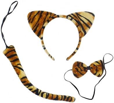 LUOEM Disfraz de tigre lindo animales gatito orejas de gato ...