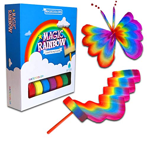 SHEFIZ Magic Art Set Rainbow Paint Set For Kids Including Paint Brushes Set For Arts And Crafts For Girls And Boys | Unique Art Supplies For Kids