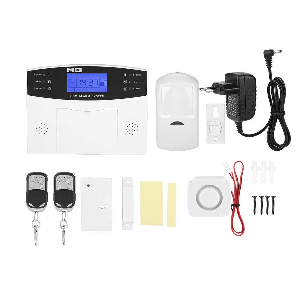 EU ASHATA 433MHz Sistema de Alarma gsm,Sistema de Alarma de Seguridad Rresidencial Inal/ámbrico,Intercomunicador Sistema de Alarma con LCD Pantalla,Soporte SMA y Alarma de Marcaci/ón