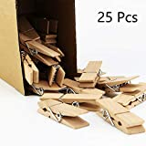 fairy maker 25Pcs Large Wooden Clothespins,2.8' Long 0.7' Wide,Sturdy and Heavy Duty Clips (25)