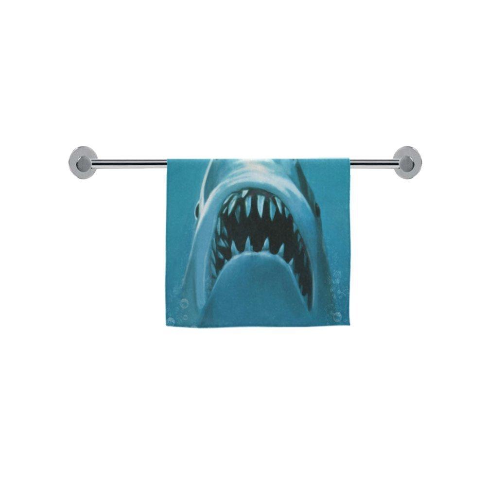 Toallas de Navidad/día de Acción de Gracias de regalo impresionante Jaws Shark Attacking natación hombre delgado suave toalla (un lado) (16 x 28inches): ...