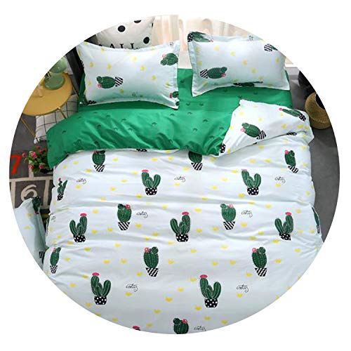 Comforter King Queen Bed Linen Cotton Bed +Cover+Pillowcase,as picture2,Twin Size (4pcs),Sheet